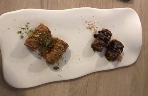 Baklavas de pistacho y chocolate