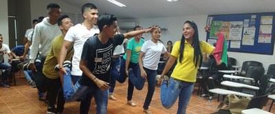 Jóvenes colombianos en programa de cooperación. Aracelly Peña