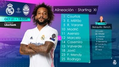 El XI del Real Madrid