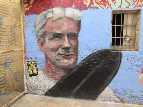 Mural sobre Fernando Simón en el programa Planeta Calleja