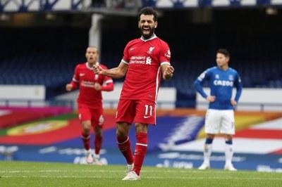 Celebración gol de Salah
