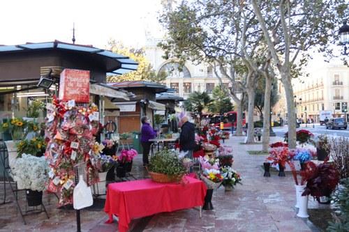 Floristerías de la Plaza del Ayuntamiento