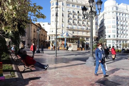 La Plaza del Ayuntamiento peatonalizada