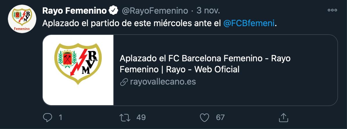 Comunicado Rayo Vallecano